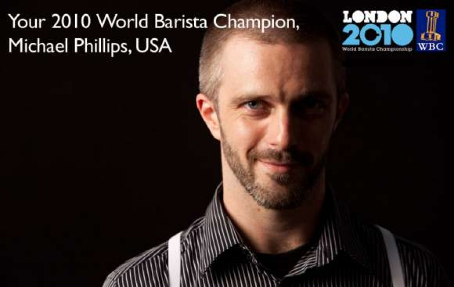 Michael Phillips (USA) won the World Barista Championship 2010
